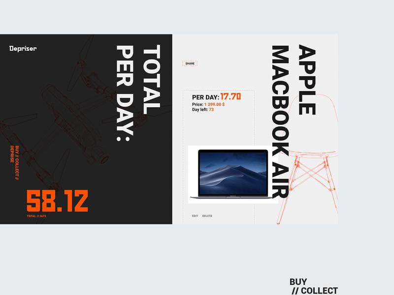 Depriser inner page brutalism brutal app typography website web design