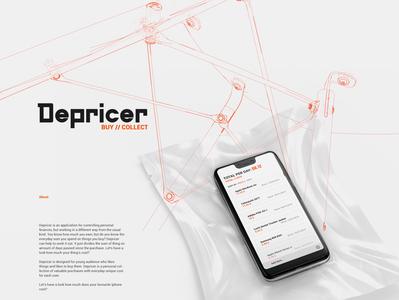Depriser presentation ui  ux ux design finance app finance app design app