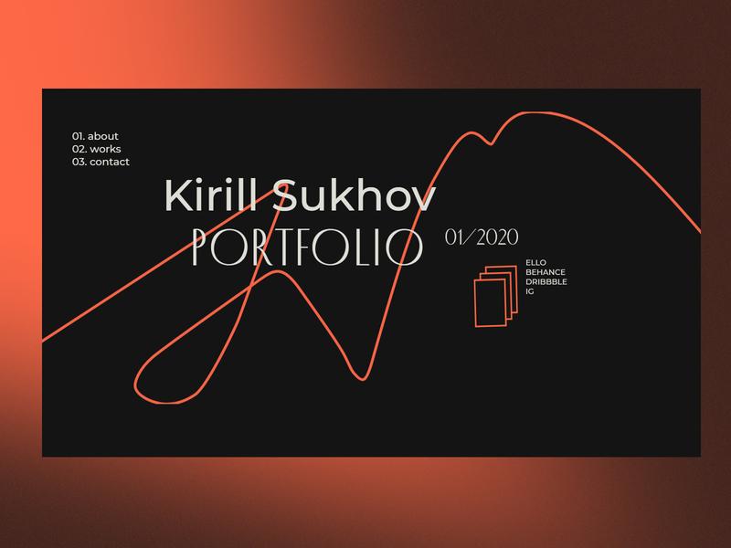 another portfolio concept typography ui website design portfolio