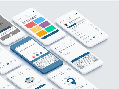 #Sales App profile picker list ui clean simple iphone app mobile sales crm color