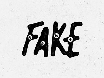 Fake News typography branding