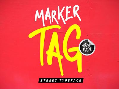 Marker Tag streetart typography typeface font graffiti marker tag urban