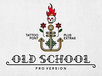 Old School Font tattoo oldschool typeface font typography