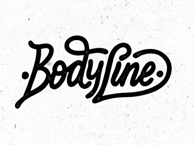 Body Line typography branding