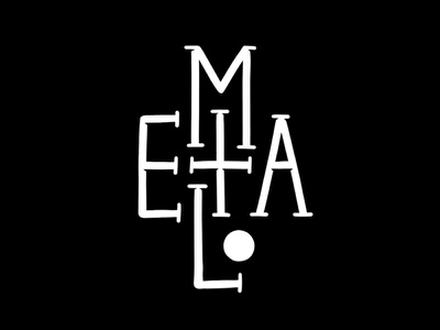 Metal black and white black typeface font lettering typography