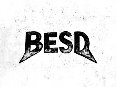 BESD best font black logotype lettering typography branding logo