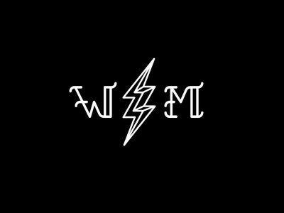WM logo lettering typography