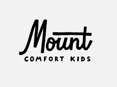 Mount Comfort Kids typography