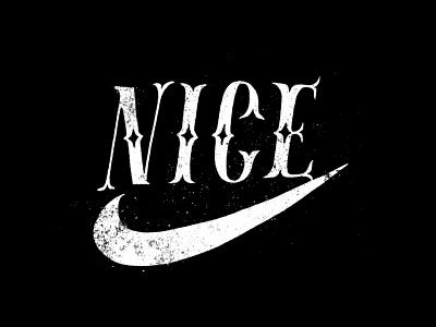 NICE nice nike handlettering vintage lettering typography