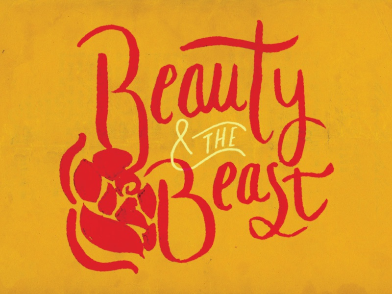 Beauty and the Beast Hand lettering hand lettering beauty and the beast disney