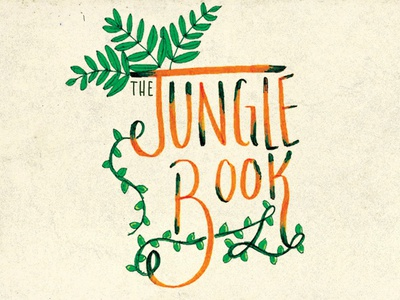 The Jungle Book Hand lettering