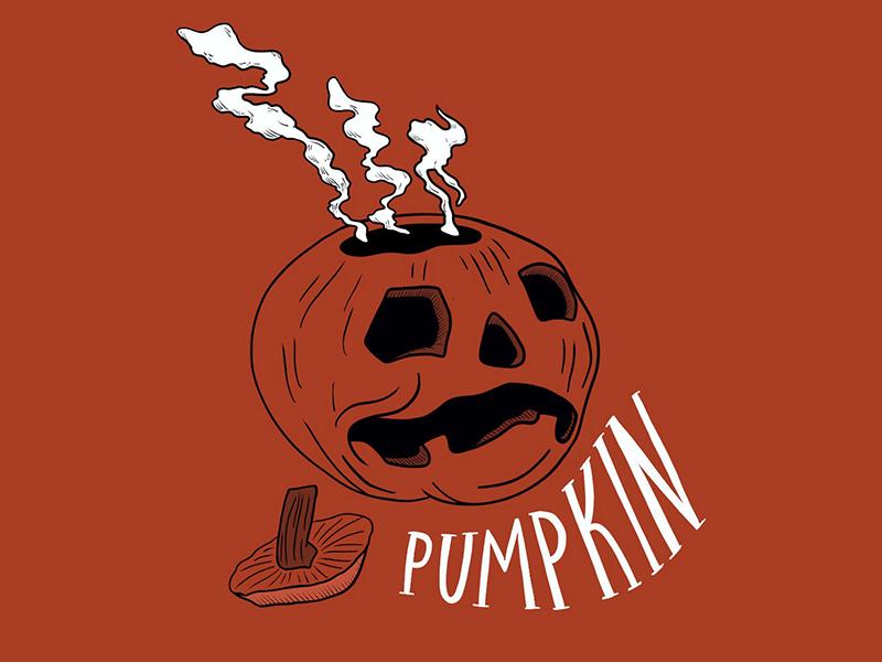 Pumpkin drawlloween illustration hand lettering pumpkin