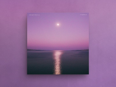 Half Moon — Album Cover photography reflection johan qin moon gradient vinyl cover ep cover art abstract art hermtheyounger graphic design album cover herm the younger
