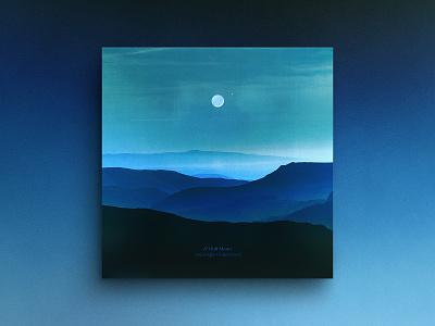 Half Moon — Album Cover conceptual photography vinyl record album artwork album cover art gradient half moon moon mountains vinyl cover ep cover album cover hermtheyounger herm the younger art