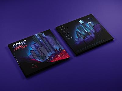 Nostalgia Forever — Digipak CD Packaging music album artwork gradient vaporwave synthwave disk disc lp ep cd cover digipak cd album cover