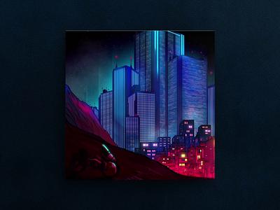 Nostalgia Forever — Album Cover animation illustration typography album artwork loop animated album cover vaporwave synthwave lp ep album cover
