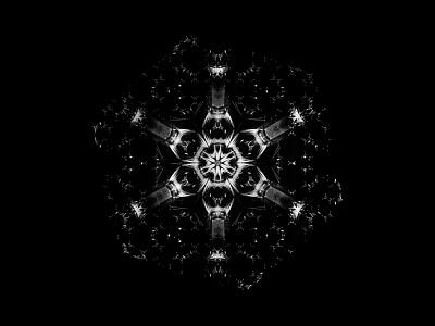 Starlight print illumination black and white symmetry geometry stars abstract art illustration art herm the younger