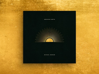 Breaking Habits Album Cover Art art gold sunset sunrise abstract art illustration ep cover cover album hermtheyounger graphic design herm the younger album cover