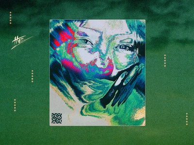 Patience psychedelic abstract portrait photoshop portrait glitch illustration abstract art hermtheyounger album cover graphic design herm the younger art
