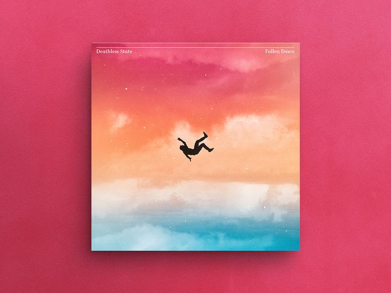 Fallen Down Album Cover conceptual silhouette illustration art gradient album cover art album artwork hermtheyounger album cover graphic design herm the younger