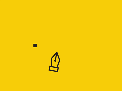 The Design Library animated intro animted intro logo bird pen tool lines animation animated logo intro libraria de design