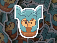 mad.animator Thor sticker