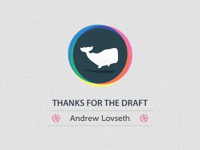 Thanks to Andrew Lovseth thank you invite