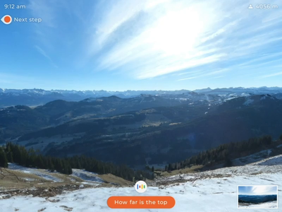 AR Hiking Navigation - Google Glass
