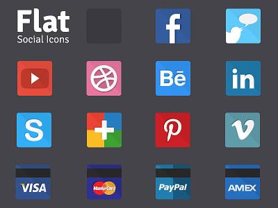 Flat Social Icons (Freebie) social flat icons