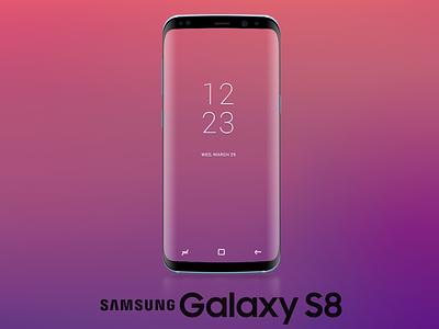 Free Samsung Galaxy S8 Mockup - PSD samsung s8 galaxy mockup freebie free
