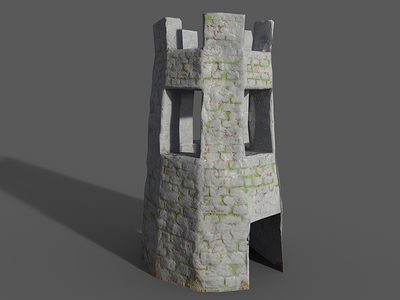 3D Tower - Unity Game unity tower susbstance painter