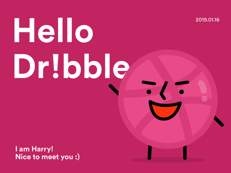 Hello Dr!bble! by Jung Yoon Kim on Dribbble