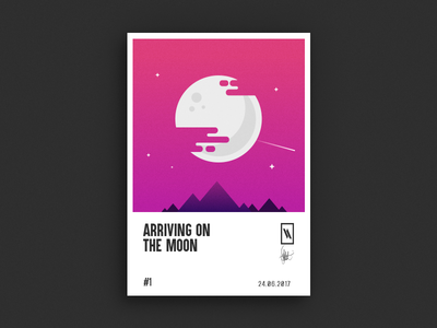 Arriving on the moon
