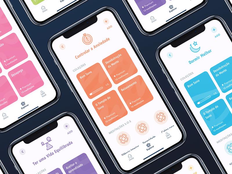 Vivo Meditation | Goals iphone x iphone apple redesign design dribbblers minimalism minimalist minimal clean ui clean colorful colors uidesign ui  ux ui meditation meditation app
