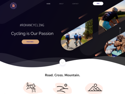 Rohan Cycling Landing Page