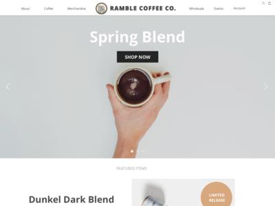 Ramle Coffee Landing Page