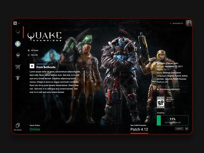 Bethesda Zenimax Launch webdesig game design ux ui product website web gaming landing page design promo landing page