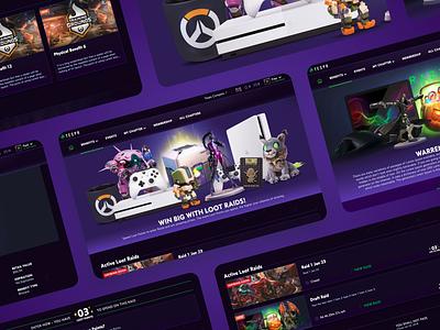 Esports Platform Loot Box interface landing console computer xbox game gaming website ux ui web landingpage webdesign design