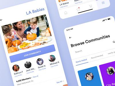 Parents care | Community Page family donate kid kids children care parent parents design applications ui social network social mobile app app