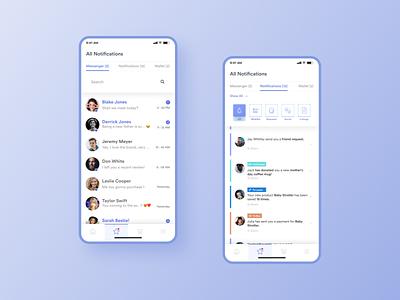 Parents care - Notifications care share children child kid kids parents design applications social network social mobile app app ui