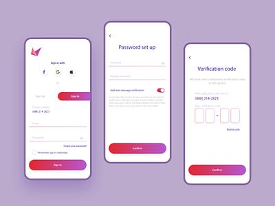 SmartStart | Sign in & Verification password phone verification mobile verification sign in signin verification design ui mobile app app