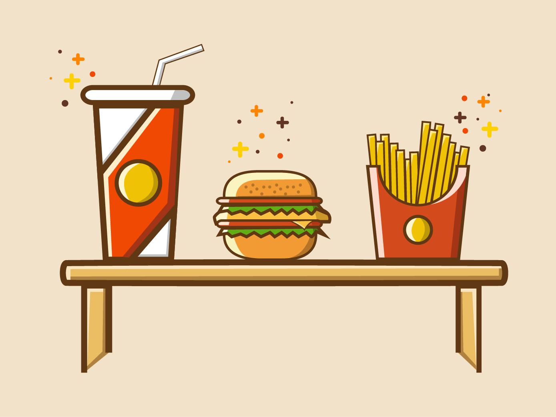 Food Set icon illustration food set