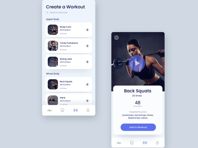 Workout App Dark and Light Mode dark mode dark ui ui exercises workout gym app