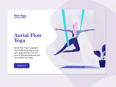 Yoga Studio procreate homepage relax studio yoga
