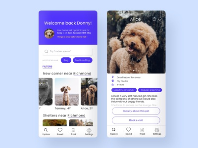 Adopt easy | pet adoption platform search bar calendar app design app pet care dogs pet shelters adoption pet