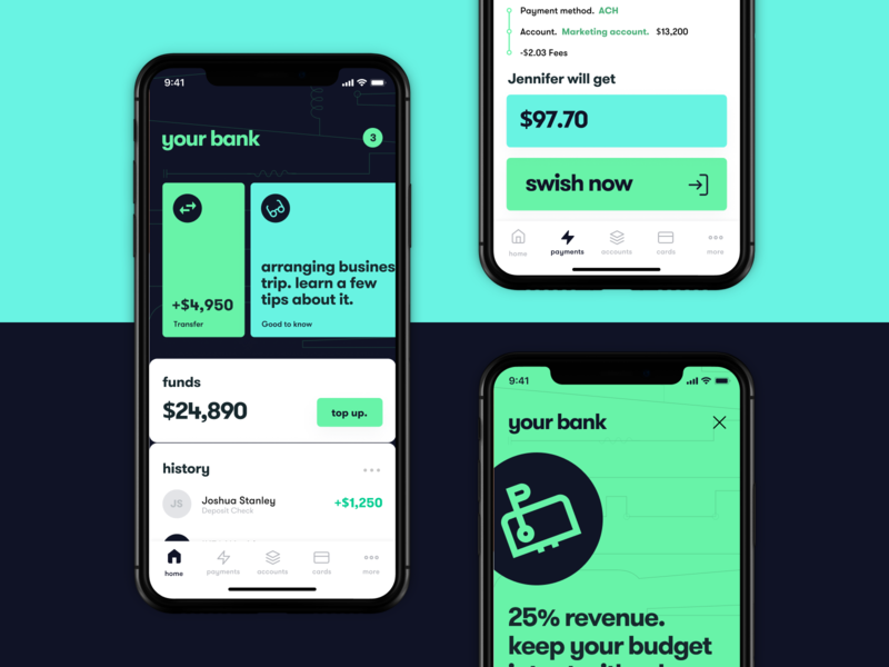 Modern banking app design 🏦 mint feed top up transfer banking fintech bank icons dashboard branding typography ux graphic design material cards app clean design ui mobile