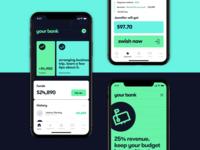 Modern banking app design 🏦