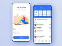 Mobile bank application