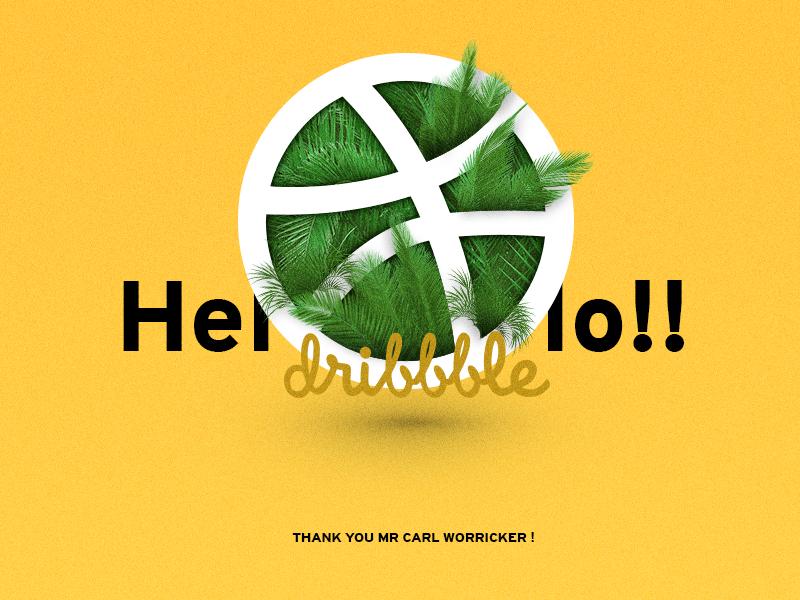 Hello Dribbbble manipulation debut design graphic