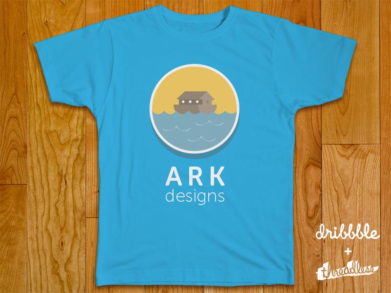Ark Design Threadlesss Dribbble  design t shirt branding threadless dribbble london logo